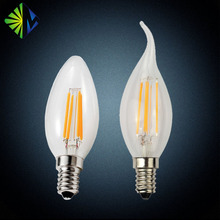 C35 4watts E14 base120v/220v led filament candle bulb light 2200k-6500k
