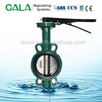 1.5'' wafer type hand lever long stem butterfly valve