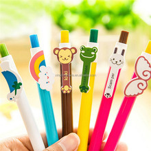 6 Designs Cute Cartoon Kawaii Novelty Ballpoint Pens Lovely Cat Bird Ball Pen