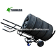 HT0105 Adjustable multi-function four wheel Matel hand hydraulic trolley for Tyre trans