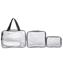 high quality fashion promotional frosted pvc cosmetic bag for shopping