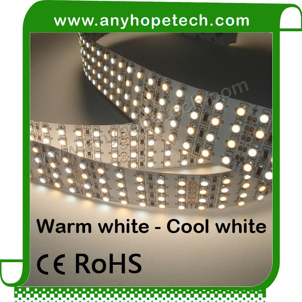 LED Flexible Light Strip used to illuminate a lightbox sign 360LED smd 3528 bi color flexible led strip light