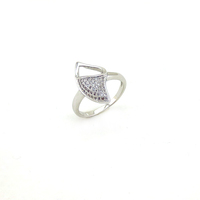 Shenzhen Mascot Brand Silver Girls Accessories Jewelry Stylish Ring For Women
