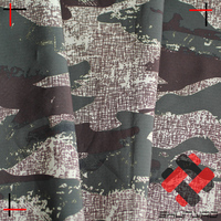 soft shell fabric of 4 way stretch pongee with camouflage printing laminated polar fleece