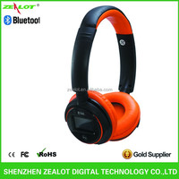 Factory Sale Leather Headband Silent Disco Headphone LCD Screen With 3.5mm Stereo Jack BT 3.0+ EDR For Calling Function