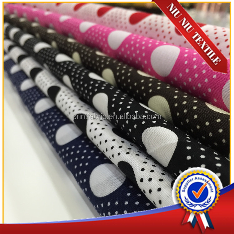 150m on sale wholesale polka dots printed cotton fabrics for bedding