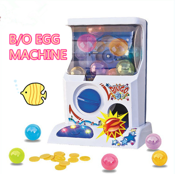 B/O Funny Mini Capsule Toy Egg Vending Machine game toys with light and music