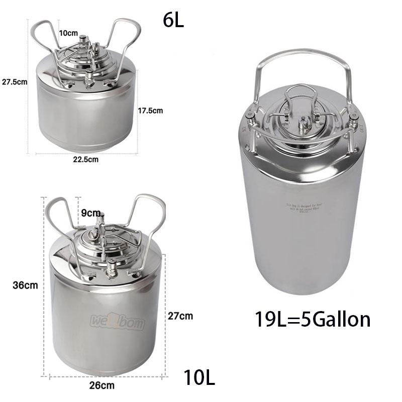 5 gallon 19L  Cornelius style Stainless steel beer keg &  beer faucet & Co2 Beer Regulator kit Home Beer brewing