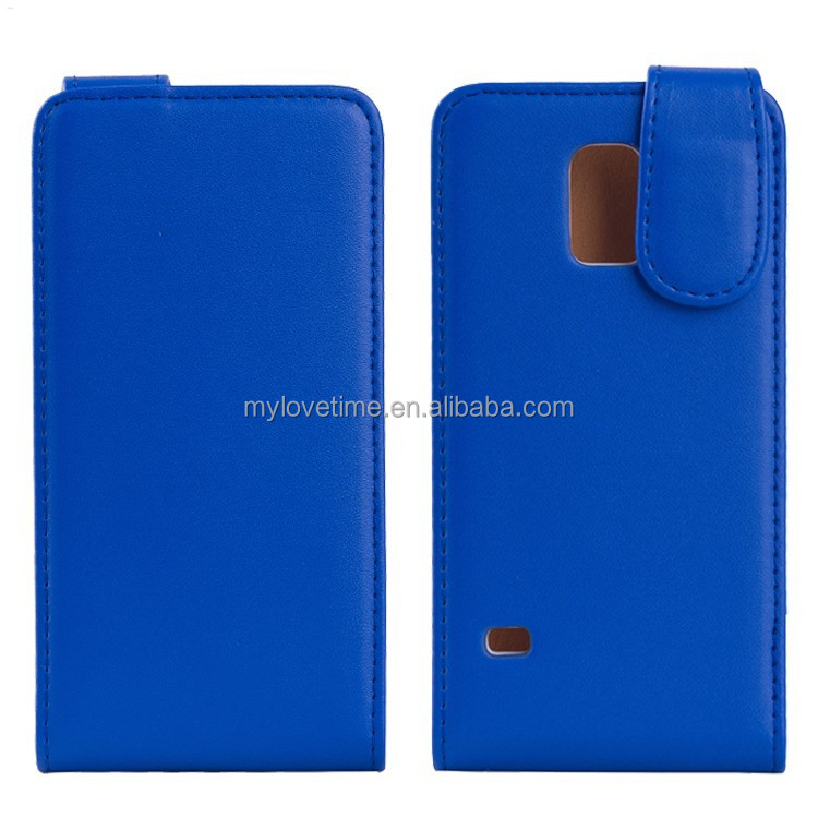 Top flip folio fancy leather handset holster for samsung S5mini