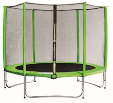 trampoline jumping bed with safety net trampoline square with outdoor equipment