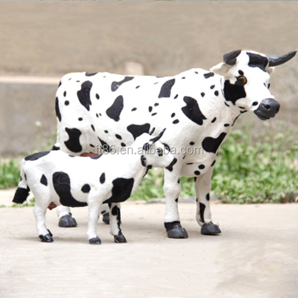Handmade collectable holstein cows for house decoration