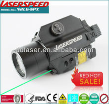 Compact Gun Used Green Laser Sight + LED 180Lum Light Combo