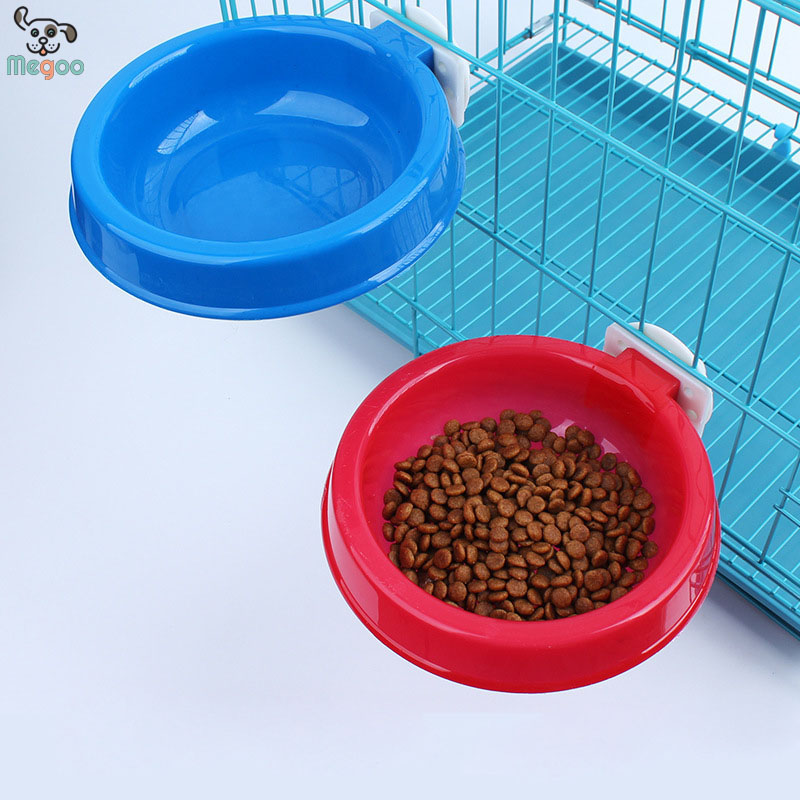 Suspension Fixed Design Plastic Pet Dog Bowl For Dog Cage