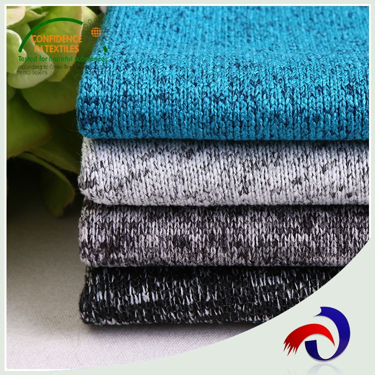 High quality cationic hacci knit 100% polyester wholesale fleece fabric for sweater