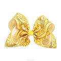 New Arrival Tribal Patterns Printed Ribbon Hair Bow For Girls