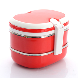 Stainless Steel Double/Triple Layers Insulated Tiffin Lunch Box Bento Box For Child Kid Students