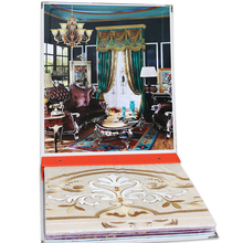 Custom wallpaper/curtain Fabric sample book high quality fabric sample book