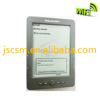 e ink ebook 6inch with optional wifi 16 level gray,Rockchip 2818 Dure Core ARM9 + DSP, 800*600 resolution made in china