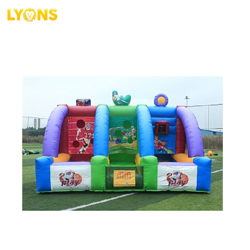 Inflatable Shooting Football Game Bounce House Inflatable Basketball Shootout