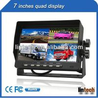 New car lcd monitor 7 inch portable lcd monitor with 4 AV inputs