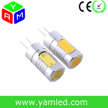 CE and ROHS High Power 4.5W G4 COB LED Aluminium Alloy Body 360 Degree Beam Angel LED G4 DC 12V