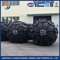 Pneumatic ship rubber fenders with chain and tire net