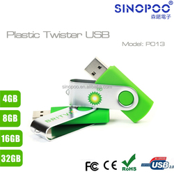Promotional 8GB Swivel USB Thumb Drive custom for business/schools/executives advertising with free sample