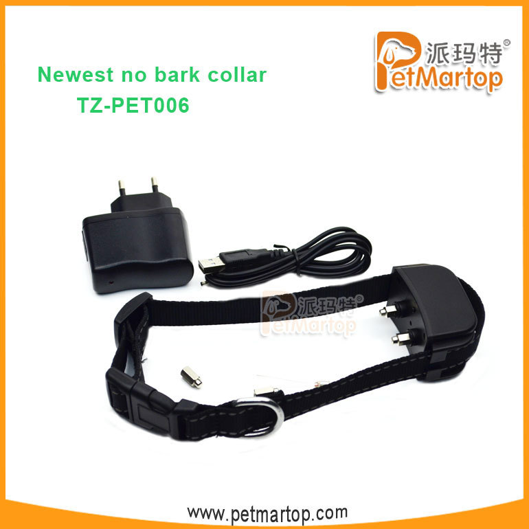 TZ-PET006 2016 super rechargeable Shocking Anti Bark Dog Collar