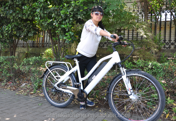 netherland NL holland Woman lady cyclist like new lady e bike 750w made in China LOHAS group zhejiang ebike supplier KCMTB027