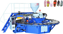 Automatic rotary type PVC shoes air blowing injection moulding machine/ automatic single color PVC