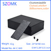 Black color extruded aluminum housing for GPS tracker from China 24*58*80mm