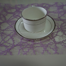 deluxe lilac sisal floral fabric roll for table runner or placemat sheet