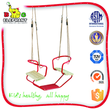 PE outdoor double swing chair for children