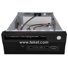 Metal Mini-ITX pc Chassis for HTPC Thin Client DVD bay
