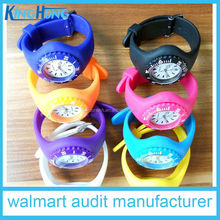 Newly 2016 promotional quartz stainless steel back silicone kids iceful watch