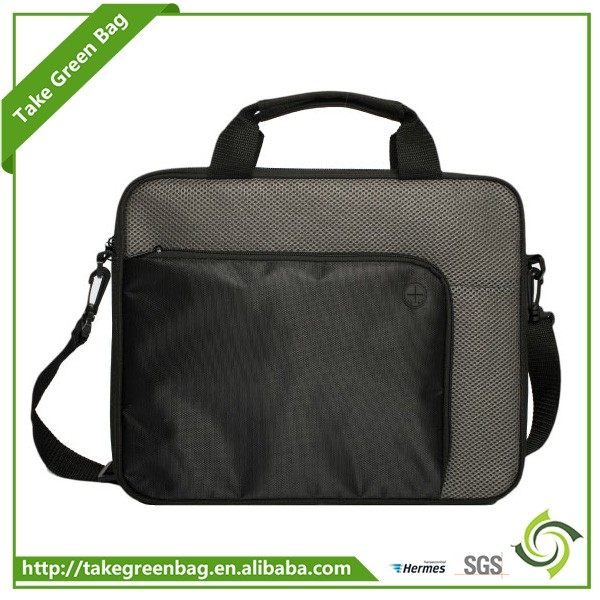 Fashion polyester laptop customized logo messenger bags