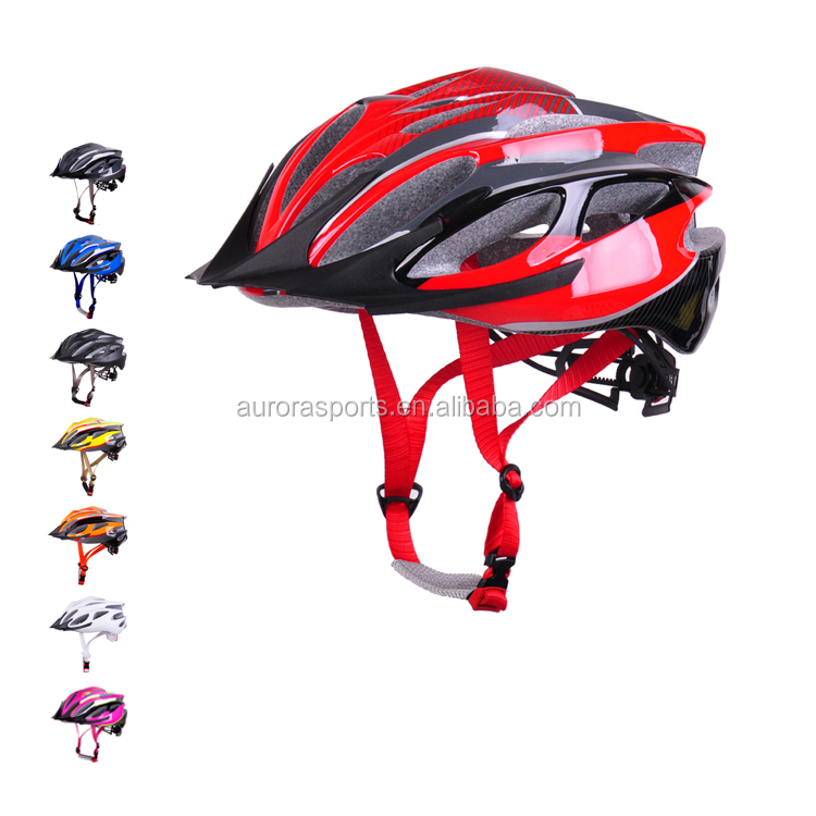 Flexible patent adjuster cycle helmet with ITW buckle high density EPS