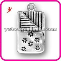 fashion antique silver plated slumber party sleeping bag charms(185975)