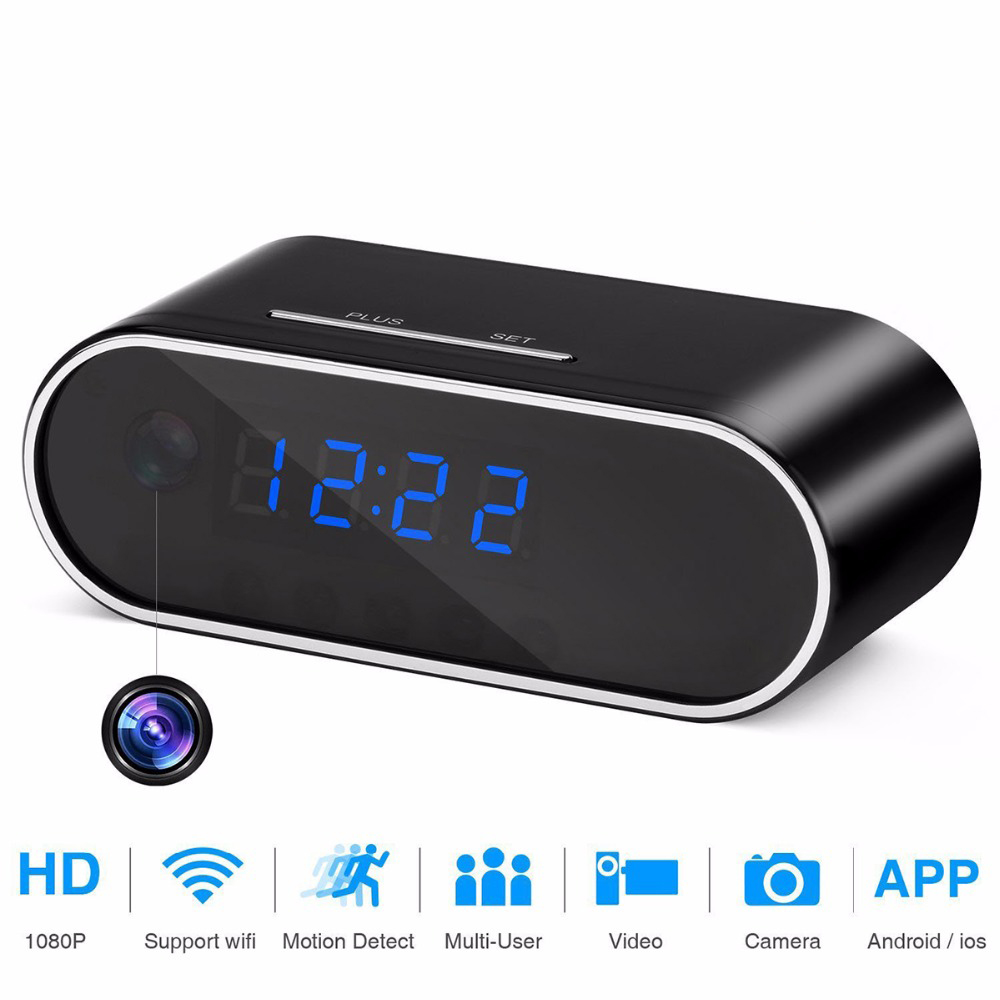 HD 1080p WiFi Table Clock Camera Mini Spy Camera DVR Camcorder