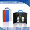 Square Portable PU Leather Wine Bottle Cardboard Carrier
