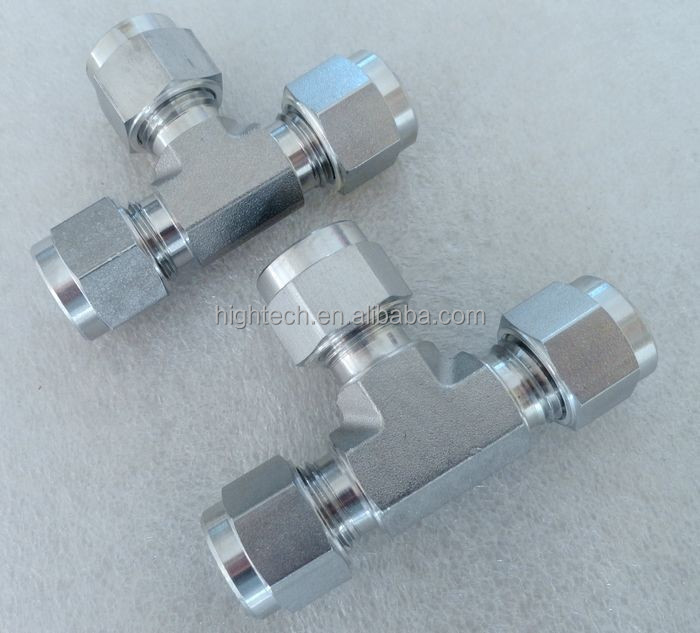 Stainless steel union tee,compression tube fitting