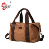 Wholesale Hot Selling Custom Logo Canvas Duffel Sport Leather Big Travel Duffel Bag