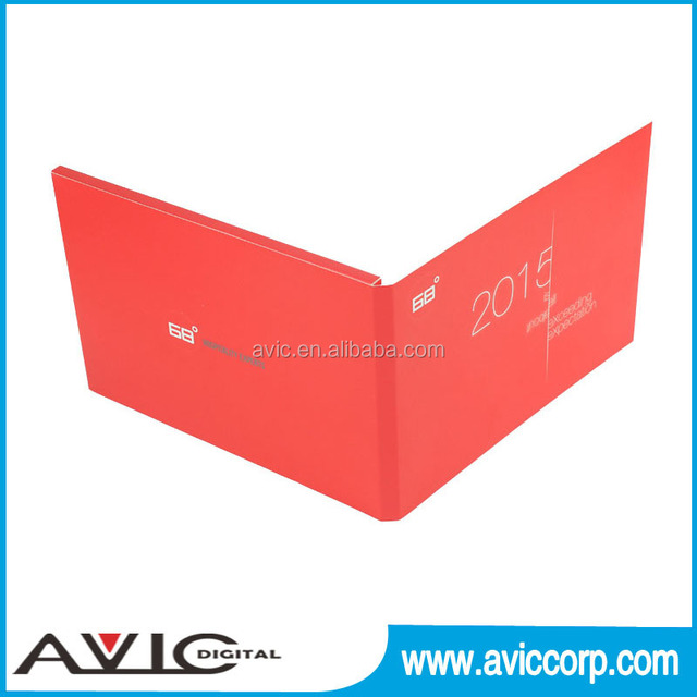 customized A5 card 4.3 inch europe style video mailer video in print displayer with Mini USB