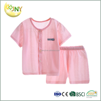 Wholesale summer plain baby clothing suits infant 100% cotton baby sets