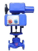Electric carbon steel water flow control valve