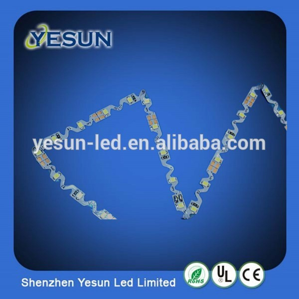 High quality S shape Flexible LED Strip Light 2835 for light box