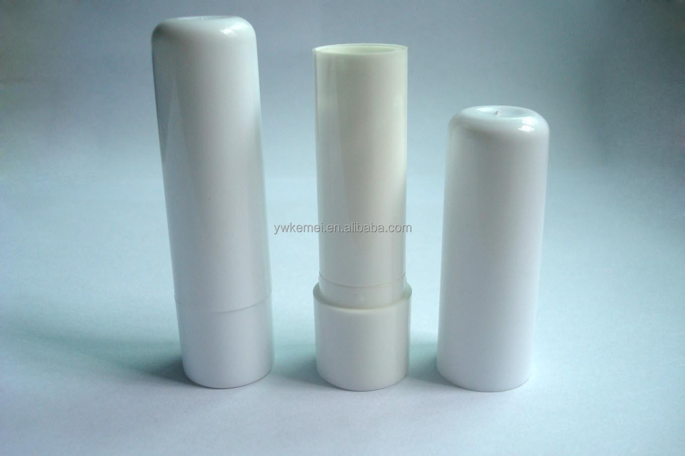 plastic empty lip balm container