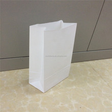 Cheap white grocery package paper bag with design