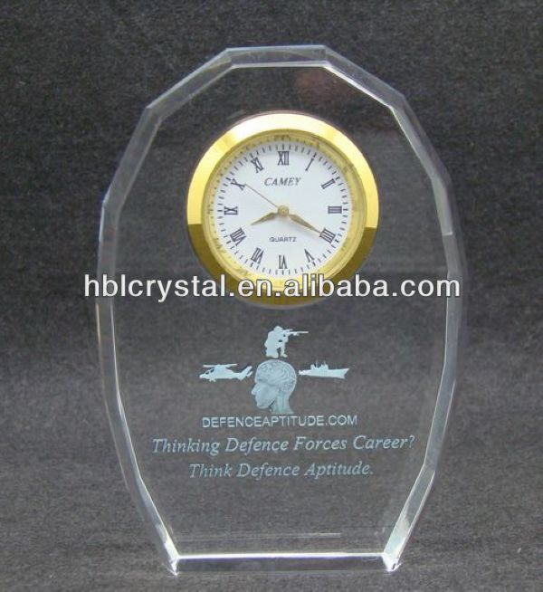 Nice crystal table clock for office decoration & gift