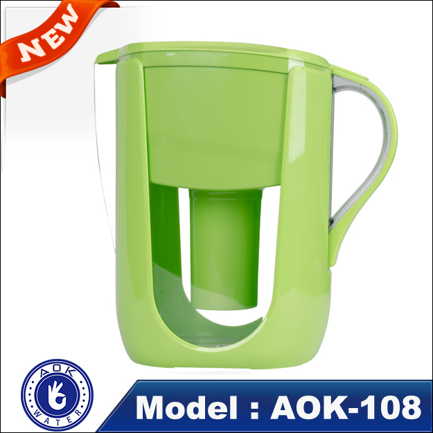2016 Factory light blue AOK-108A alkaline water filter pitcher wholesale home energy drink